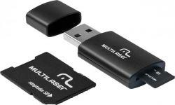 KIT 3 EM 1 CARTAO MICRO SD 16GB + ADAPTADOR + LEITOR USB MC112